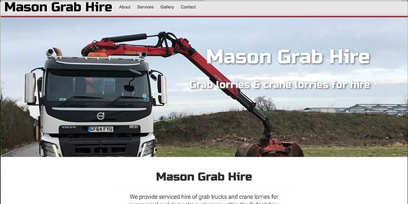 Mason truck & grab hire website