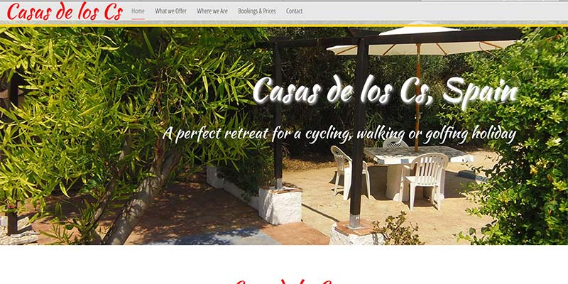 Casas de los Cs, Spain; Parallax Responsive holiday website