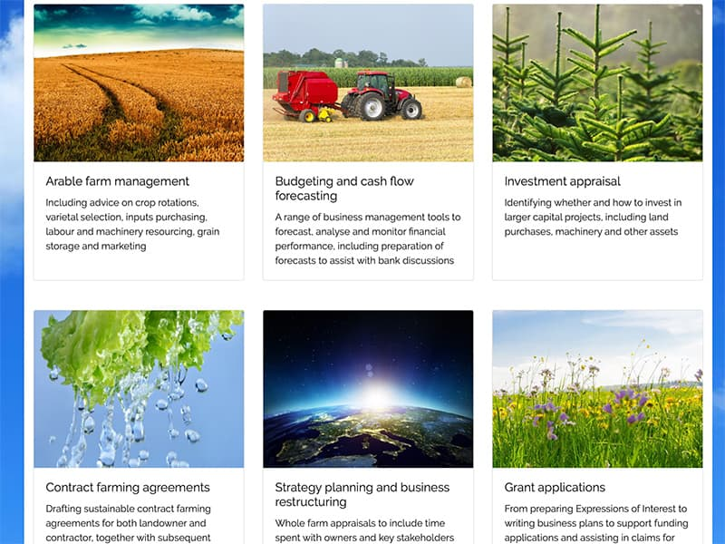 Farming and Rural Business Support website