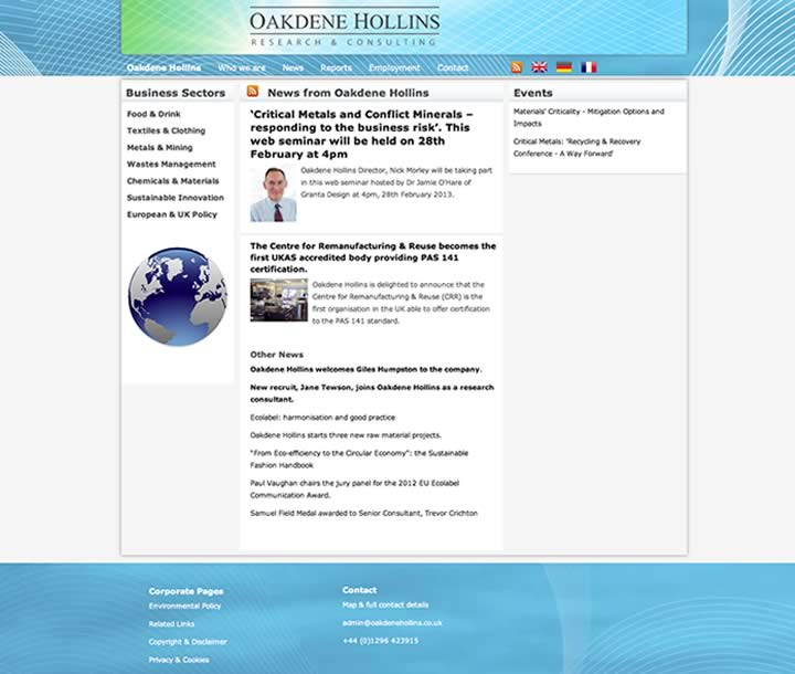 Research consultant website design
