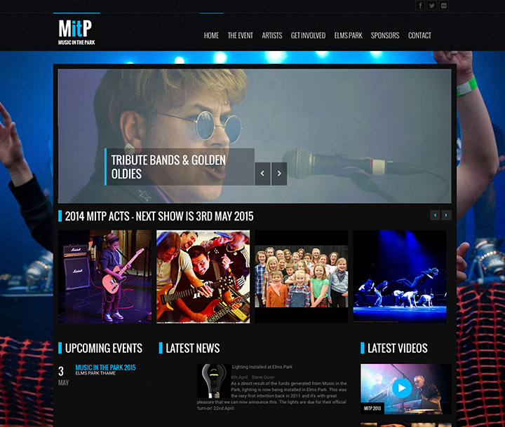 Music festival website design