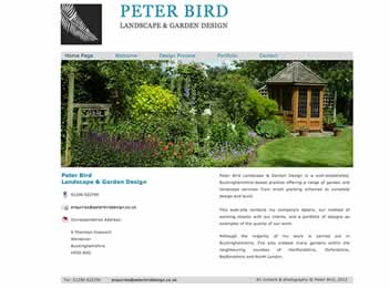 Landscape gardener in Buckinghamshire website design