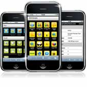 Web hosting iphone control panel