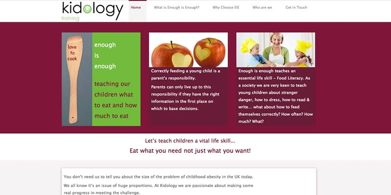 Parenting and child obesity programme website