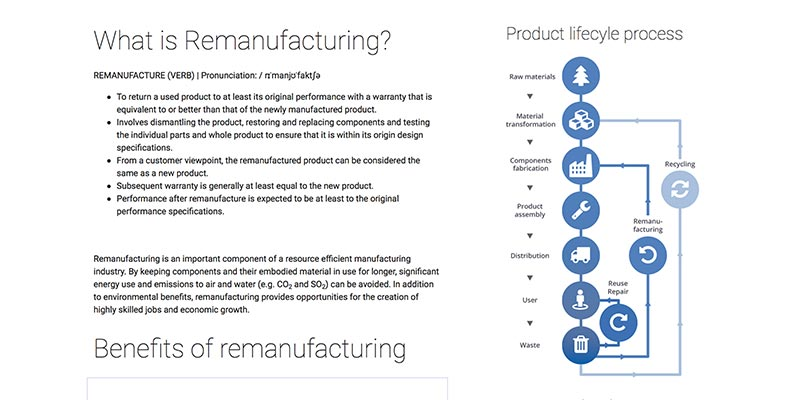 Remanufacturing website