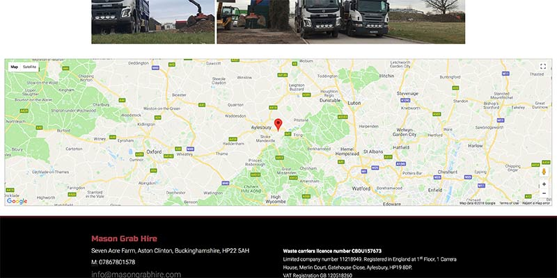 Grab hire lorry website