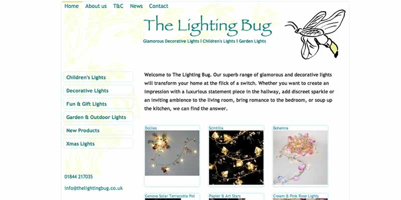 Lighting products ecommerce website