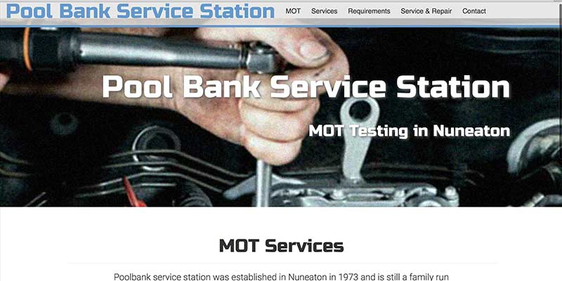 MOT service station website