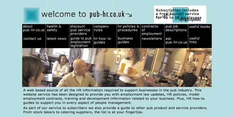Pub hr resource website design